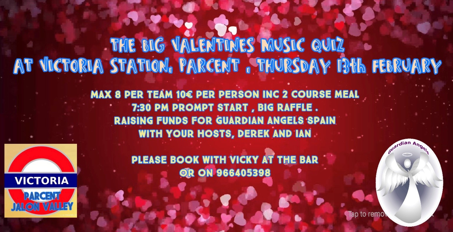 The Big Valentines Music Quiz @ Victoria Station, Parcent